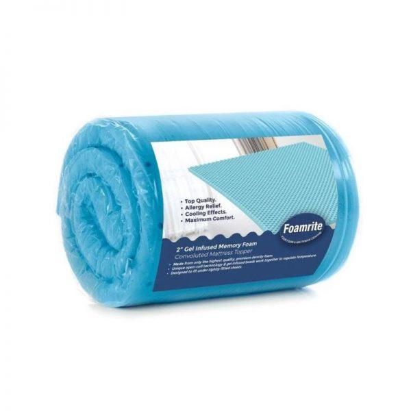 Foamrite Blue Gel Memory Foam Topper